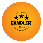 GAMBLER PLATINUM 3 STAR BALLS (36 pack) - ORANGE